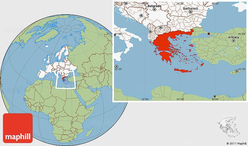 Karta Varlden Europa.Grekland I Varlden Karta Karta Grekland Sodra Europa Europa