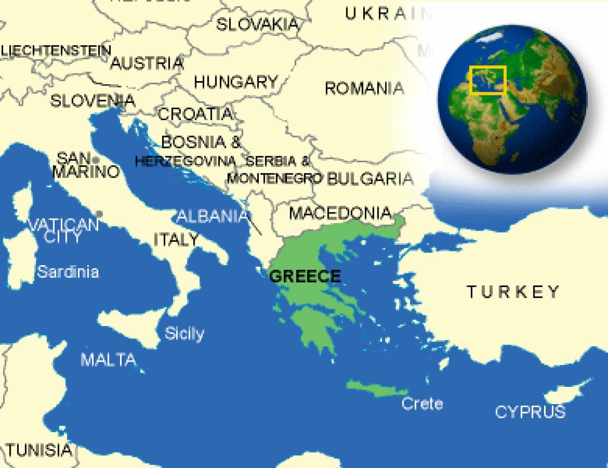 Karta Lander I Europa.Grekland Land Karta Karta Over Grekland Och Angransande Lander