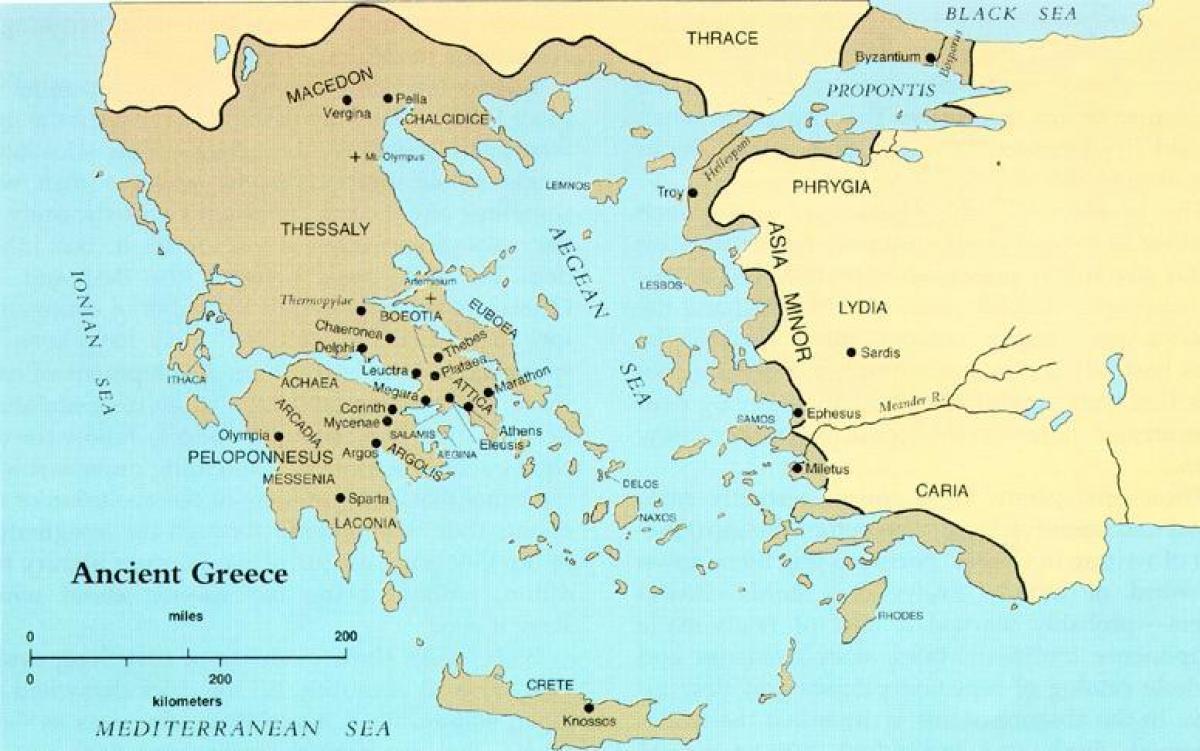 Karta Varlden Europa.Antika Grekiska Varlden Karta Det Antika Grekland Pa En