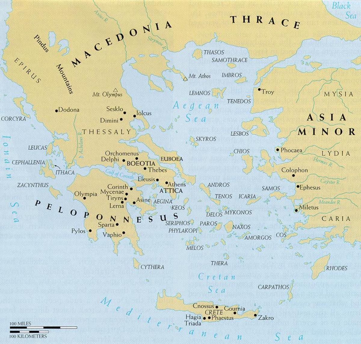 Karta Varlden Europa.Antikens Grekland Och De Egeiska Varlden Karta Karta Over Antikens