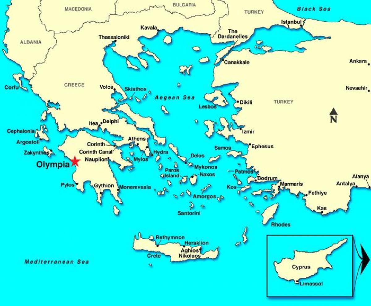 Karta Europa Grekland.Katakolon Grekland Karta Karta Over Katakolon Grekland Sodra