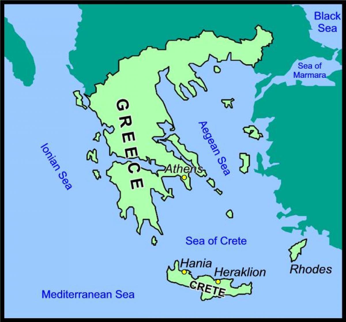 kreta karta Kreta karta Grekland   Karta över Kreta, Grekland (Södra Europa  kreta karta