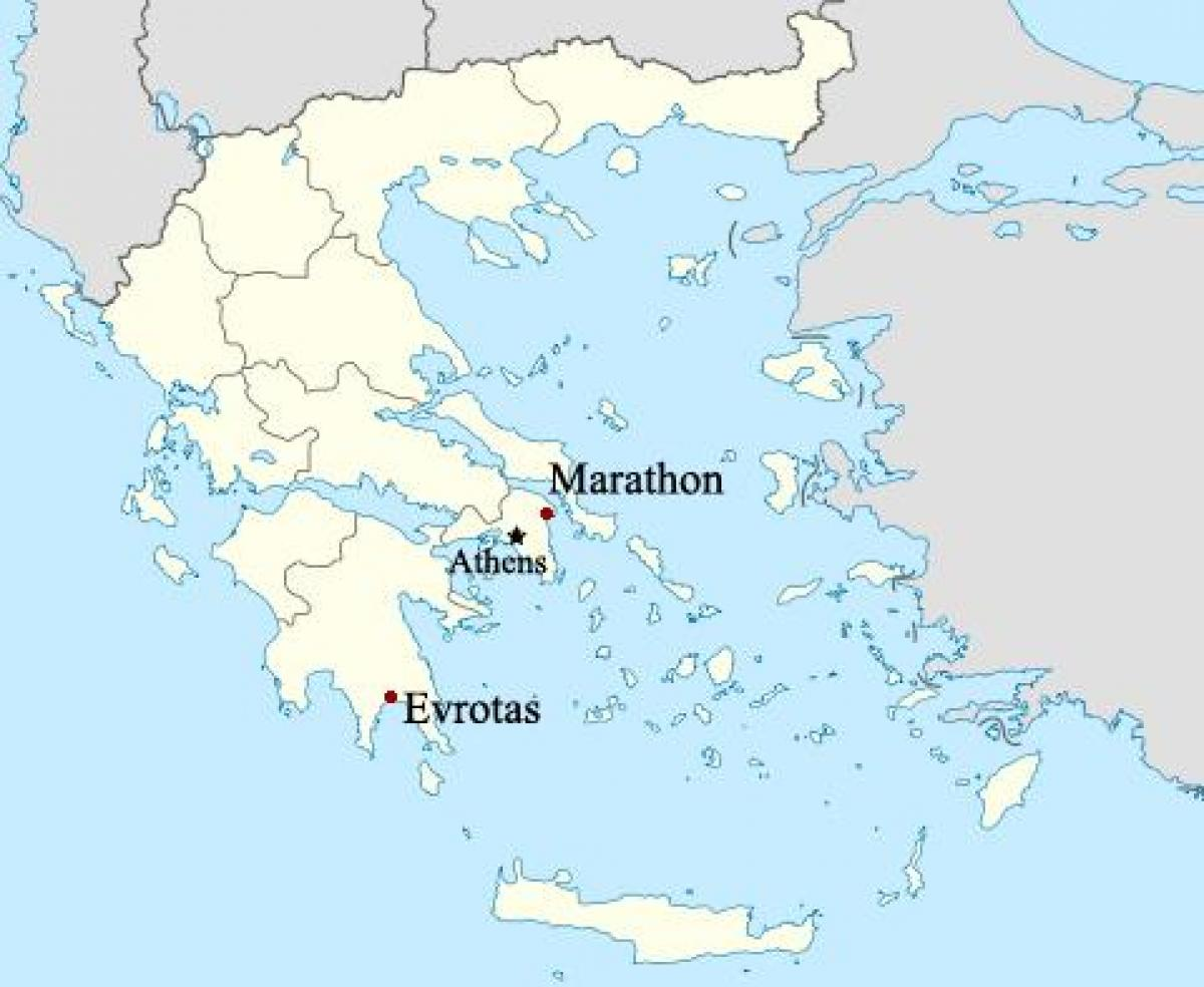 marathon grekland karta Marathon Grekland karta   Karta över Maratonloppet Grekland (Södra  marathon grekland karta